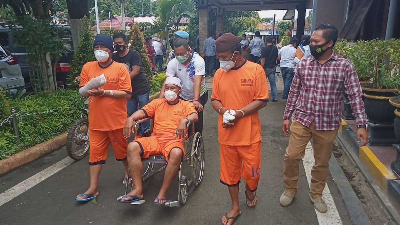Tiga pelaku carok di Malang yang menewaskan 2 orang. (Foto: Rap/Tugu Malang/Tugu Jatim)