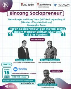 """Yuk, Ikuti """"Bincang Sociopreneur"""" Bersama CEO Paragon dan Dr Aqua Dwipayana!"""