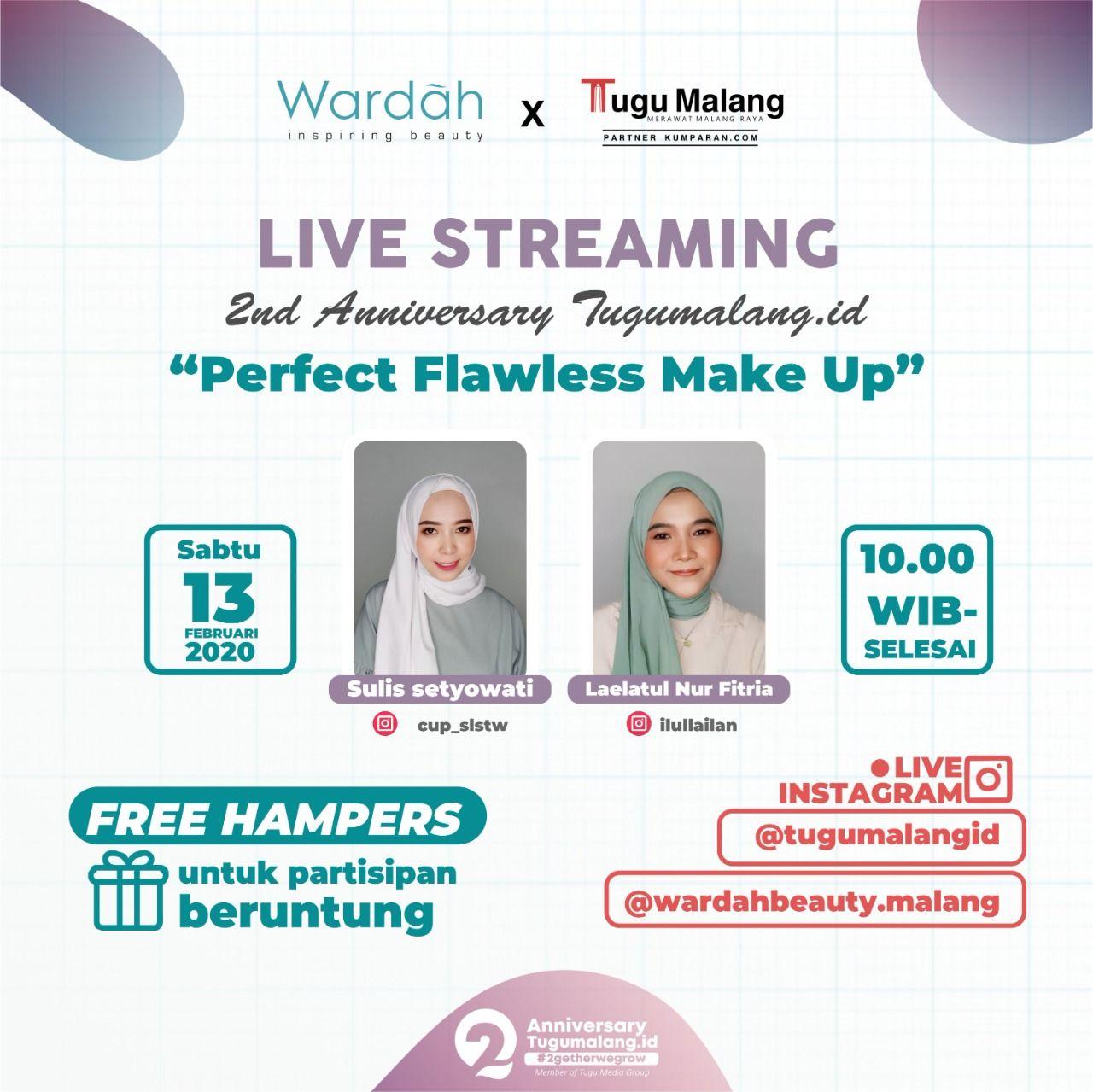 Event acara kolaborasi Wardah bersama Tugu Malang ID yang bakal membahas 'tips n trik' make-up flawless. (Foto: Dokumen/Tugu Malang/Tugu Jatim)