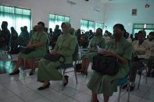 Peserta sosialisasi hukum dari prajurit, ASN, hingga Persit Kodim 0819/Pasuruan. (Foto: Dok/Tugu Jatim)