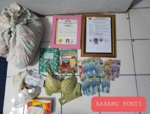 Barang bukti penggerebekan. (Foto:Polres Kediri Kota/Tugu Jatim)