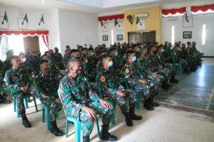 Peserta Sharing Komunikasi dan Motivasi di Batalyon Infanteri (Yonif) 405/Surya Kusuma Wangon, Kabupaten Banyumas. (Foto:Dok/Tugu Jatim)