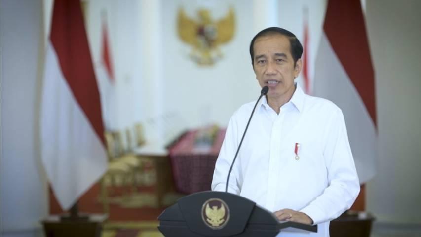 Presiden Joko Widodo (Jokowi) saat menyampaikan pernyataan di Istana Kepresidenan Bogor, Jawa Barat, Minggu (28/3/2021). (Foto: Sekretariat Presiden)