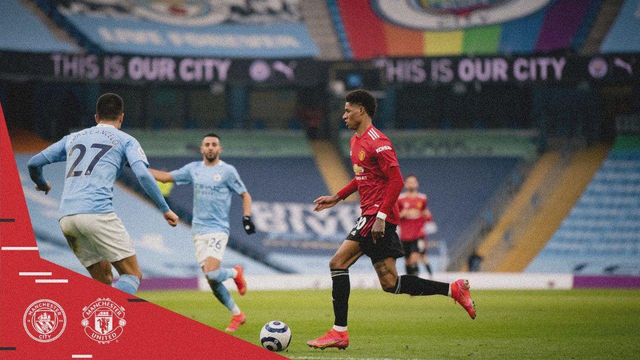 Rasford saat bertandang ke Stadion Anfield saat sebelum terkena cedera pergelangan kaki. (Foto: Twitter @ManUtd/Tugu Jatim)