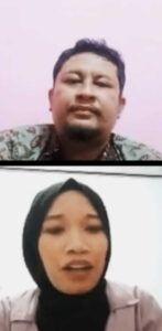 CEO Tugu Malang ID Irham Toriq dan Fuji Astutik saat membahas soal ghosting. (Foto: Azmy/Tugu Jatim)