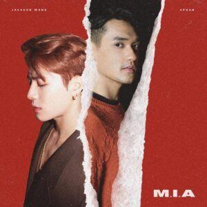 """Jackson Wang dan Afgan untuk cover """"M.I.A"""". (Foto: Twitter @afgan__/Tugu Jatim)"""