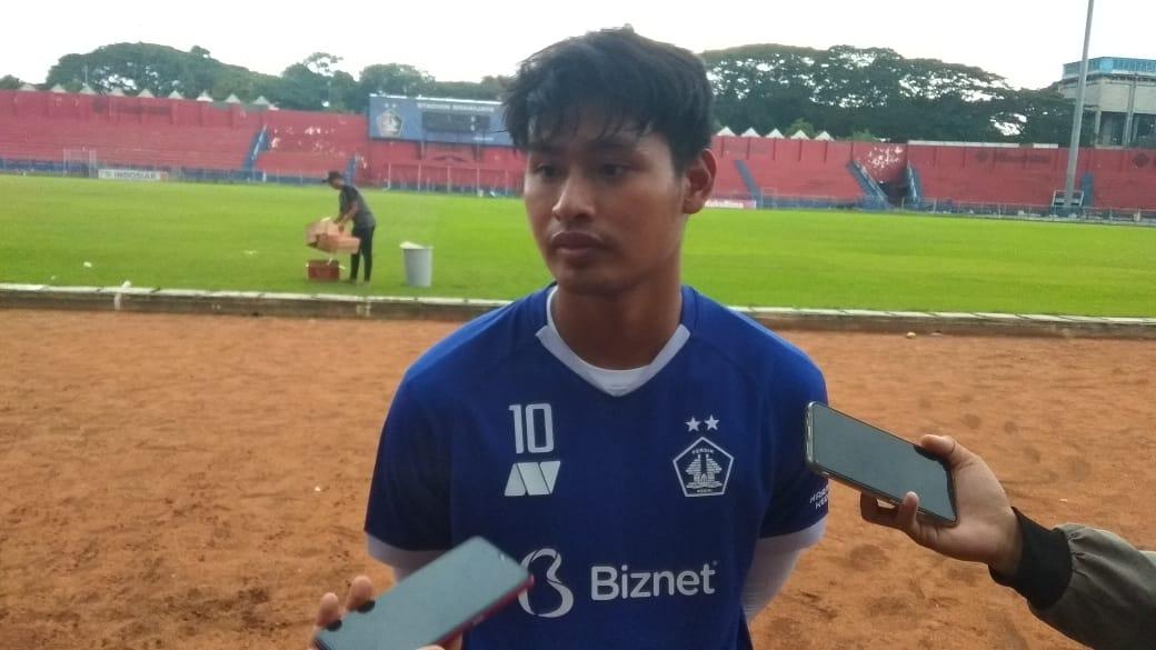 Septian Bagaskara, penyerang Persik Kediri menyatakan siap untuk bertarung bersama Persik Kediri di ajang Piala Menpora 2021. (Foto: NOE/Tugu Jatim)