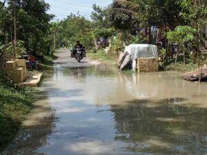 Banjir luapan Sungai Ganggang yang berada di wilayah Desa Jumput, Kecamatan Sukosewu, Kabupaten Bojonegoro (Foto : BPBD Bojonegoro)