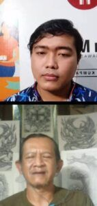 Perupa Malang Maruto Septriono saat ngobrol bareng tugumalang.id pada Jumat malam (26/03/2021). (Foto:Rap/Tugu Jatim)
