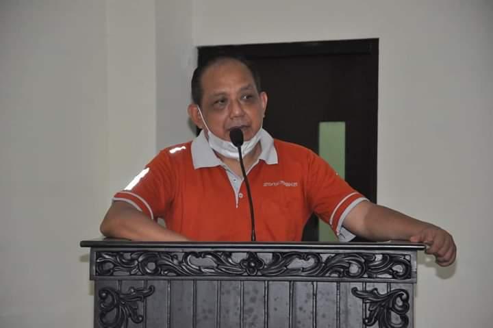 Sekda Kabupaten Trenggalek Joko Irianto membuka kompetisi esport pertama. (Foto: Muhammad Zamzuri/Tugu Jatim)