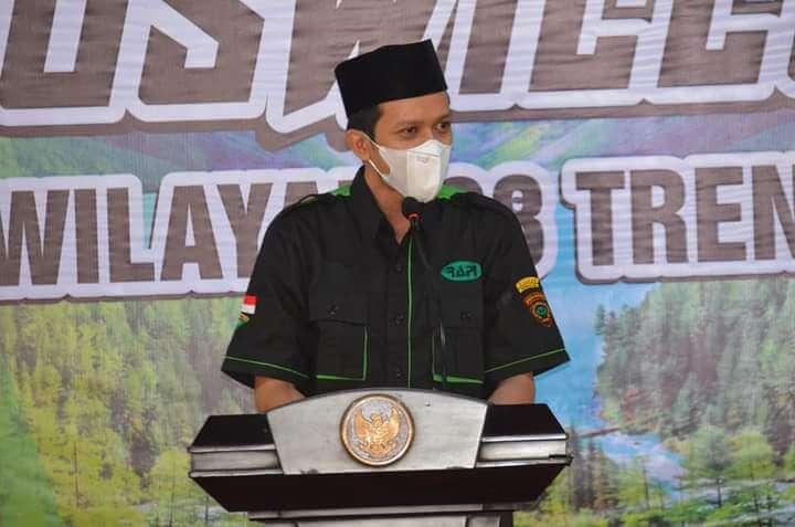 Wakil Bupati Syah M. Natanegara dalam membuka acara Muswilub. (Foto: Muhammad Zamzuri/Tugu Jatim)