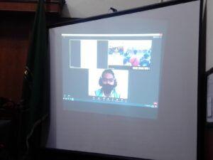 Proses sidang yang dilakukan secara virtual. (Foto: Rangga Aji/Tugu Jatim)