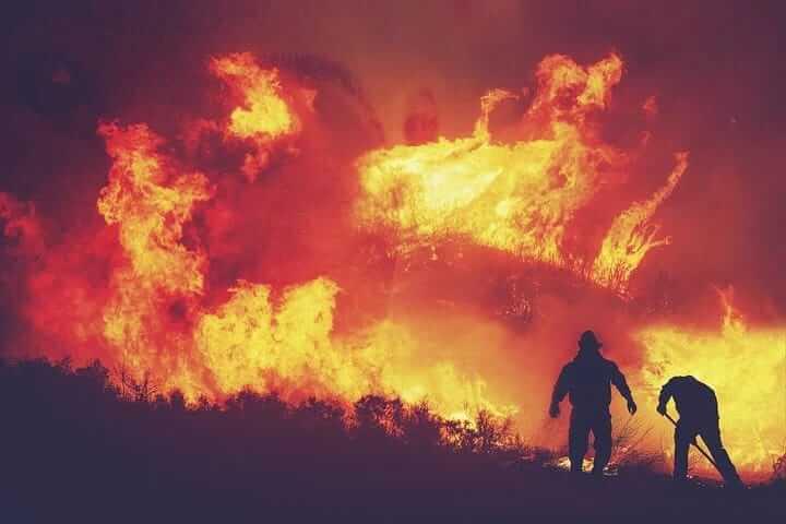Ilustrasi kebakaran hutan dan lahan (karhutla) pada puncak musim kemarau yang diprediksi BMKG akan dimulai April 2021 dan mencapai puncak pada Agustus 2021. (Foto: Pixabay)