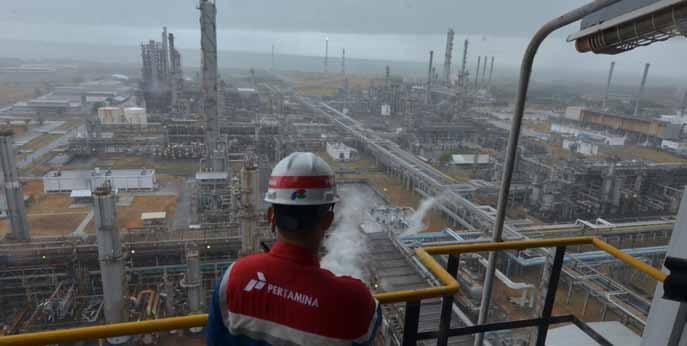 Kilang minyak milik Pertamina di Balongan, Indramayu, Jawa Barat. (Foto: Dokumen/Pertamina)