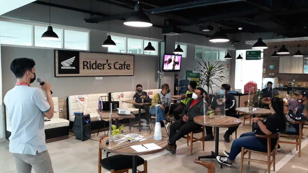 Sunday Gathering & Ride) yang diadakan oleh PT. Mitra Pinasthika Mulia (MPM Honda Jatim) di MPM Riders Cafe Malang. (Foto: Dokumen/MPM Jatim)