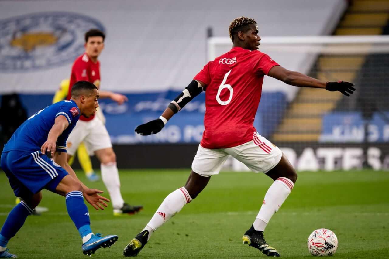 Laga perempat final Piala FA antara Man United vs Leicester City yang digelar di Stadion King Power, Senin (22/3/2021) dini hari. (Foto: Twitter/@ManUtd)