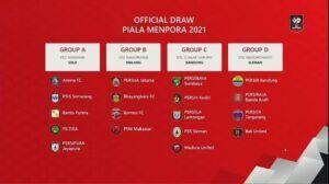 Hasil drawing Piala Menpora 2021. (Foto: Dokumen)