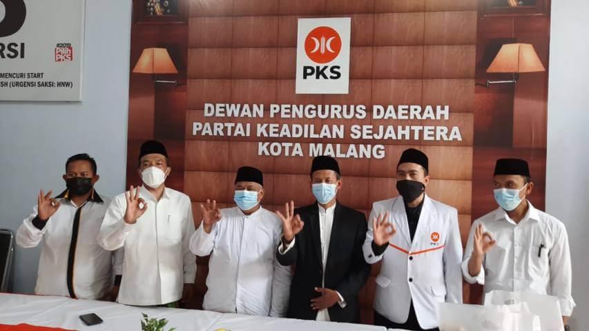 Kunjungan Ketua DPW PKS Jatim, Irwan Setiawan di Kantor DPTD PKS Kota Malang. (Foto: Dokumen/PKS)
