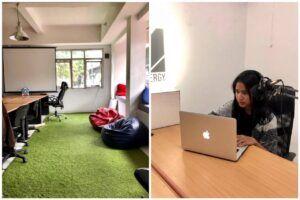 Fasilitas ruang office dan podcast studio RM. Inkubasi. (Foto: RM. Inkubasi)