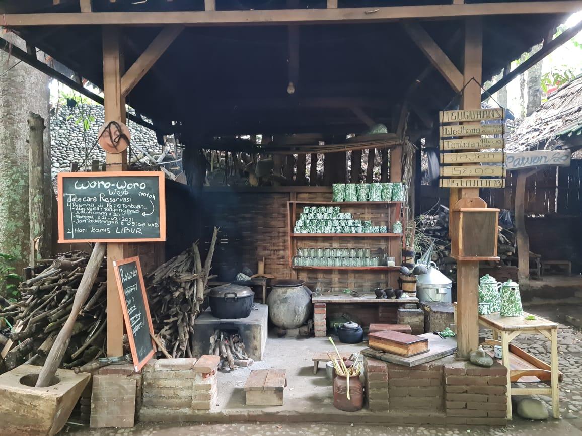 Tomboan Ngawonggo, wisata dengan konsep unik bernuansa Jawa Kuno di Kabupaten Malang. (Foto: Dani Alifian)