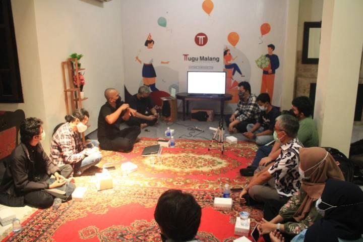Saat Tugu Media Group menggelar silaturahmi dan berbagi ilmu. (Foto: Tugu Media Group/Tugu Jatim)