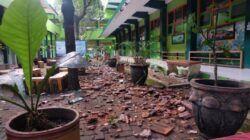 Kondisi SMKN 1 Turen, Kabupaten Malang, setelah terjadi gempa. (Foto: Rap/Tugu Jatim)