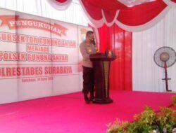 Pengukuhan Polsek Gununganyar, Kapolrestabes Surabaya: Tingkatkan Pelayanan Publik untuk Seluruh Warga