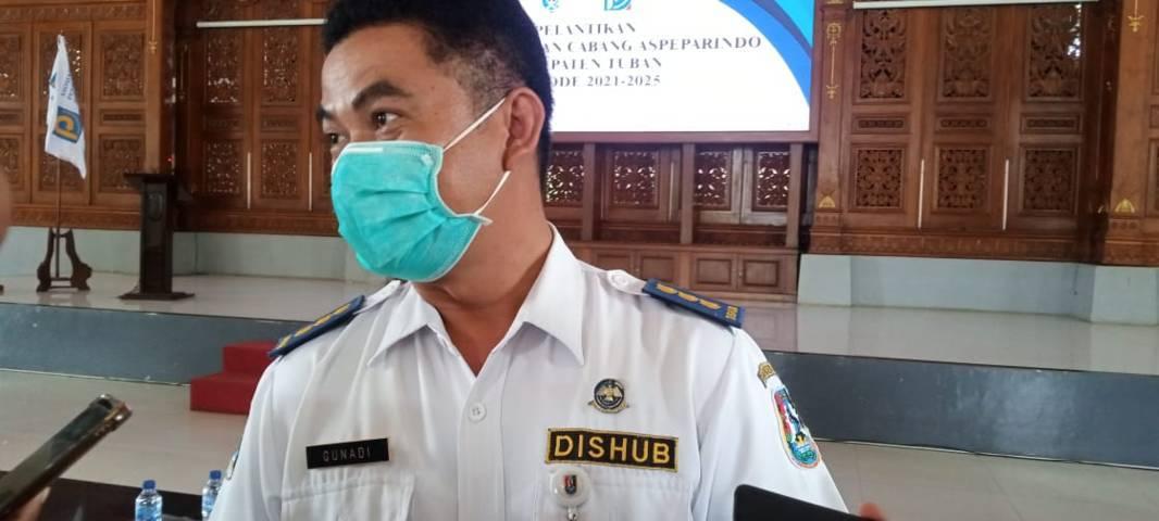 Kepala Dinas Perhubungan Kabupaten Tuban Gunadi. (Foto: Rochim/Tugu Jatim)