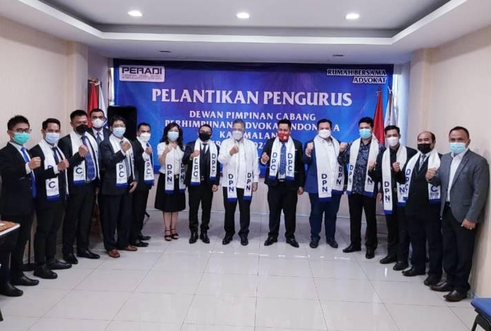 Acara pelantikan pengurus DPC Peradi Kabupaten Malang di Jakarta. (Foto: Dok/Tugu Jatim)