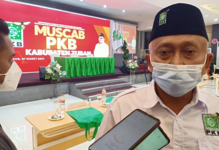 Ketua DPC PKB Tuban yang juga Ketua DPRD Tuban M. Miyadi. (Foto: Rochim/Tugu Jatim)