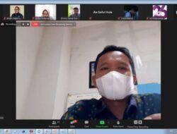 Tangkapan layar sesi diskusi secara daring bertajuk Melawan Infodemik Pandemi Covid-19 yang digelar oleh AJI Bojonegoro, Kamis (8/4/2021). (Foto: Mochamad Abdurrochim)
