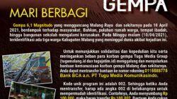 Tugu Media Group Galang Donasi untuk Korban Gempa Malang, Kini Sudah Capai Rp 13 Juta