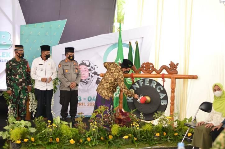 Jalannya Konferensi Cabang IPNU-IPPNU Kabupaten Trenggalek. (Foto: M Zamzuri/Tugu Jatim)