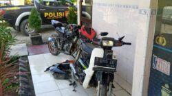 2 motor yang diamnakan sebagai barang bukti pengerusakan dan pengeroyokan yang dilakukan salah satu kelompok perguruan silat di Kabupaten Tuban. (Foto: Polsek Jenu)