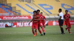 Gol pembuka Yusuf Meilana menit ke 12 ke gawang Persela Lamongan. (Foto: Dokumen/Persik Kediri)
