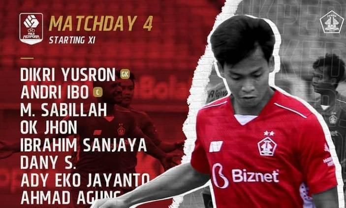 Sususanan pemain Persik Kediri kala menghadapi Persela Lamongan. (Foto: Instagram/Persik Kediri)