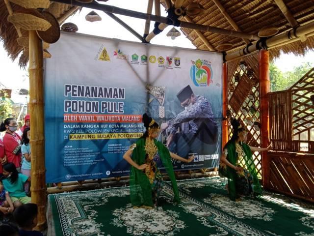 Pagelaran Seni dan Budaya di Kampung Budaya Polowijen, Minggu (4/4/2021). (Foto : Pokdarwis KBP) wisata kampung tematik kota malang