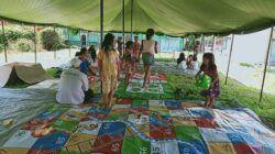 Suasana Posko Trauma Healing bagi korban gempa bumi M 6,1 yang melanda Malang Selatan, Sabtu (10/4/2021) lalu. (Foto: Rizal Adhi Pratama/Tugu Malang/Tugu Jatim)