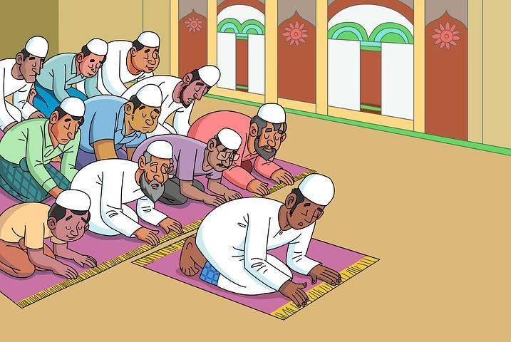 Ilustrasi ibadah salat tarawih dan Idulk Fitri secara berjemaah. (Foto: Pixabay)