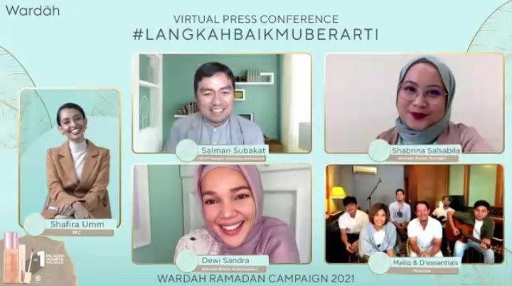 "Virtual Press Conference ""#LangkahBaikmuBerarti"" Wardah Ramadan Campaign 2021 (Foto : Mila Arinda/Tugu Jatim)"