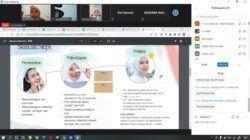Wardah Malang berbagi tip untuk merawat kulit sehat dengan cara sederhana di gelaran acara Tugu Media Group x Paragon Goes To School di SMAN 1 Pagak. (Foto: Feni Yusnia/Tugu Malang/Tugu Jatim)