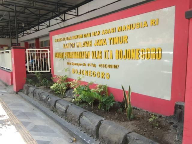 Lembaga Pemasyarakatan (Lapas) Kelas II A Bojonegoro. (Foto: Mila Arinda/Tugu Jatim)