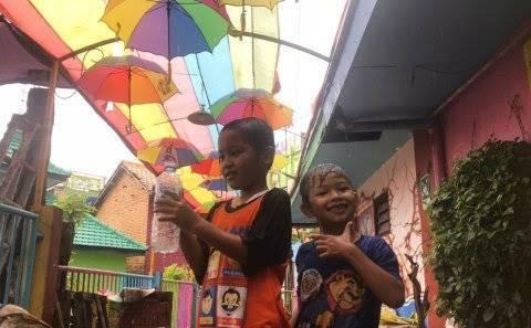 Kampung Warna Jodipan. (Foto: Ulul Azmy/Tugu Jatim)