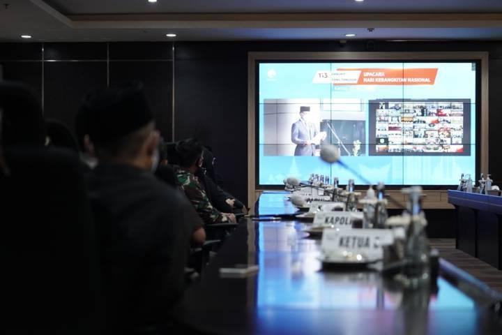 Meski digelar secara virtual, acara peringatan Harkitnas tetap berjalan secara khidmat. (Foto: Diskominfo Kota Batu)