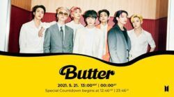 """Butter"" MV Special countdown with #BTS. (Foto: Twitter @BTS_Official/Tugu Jatim)"