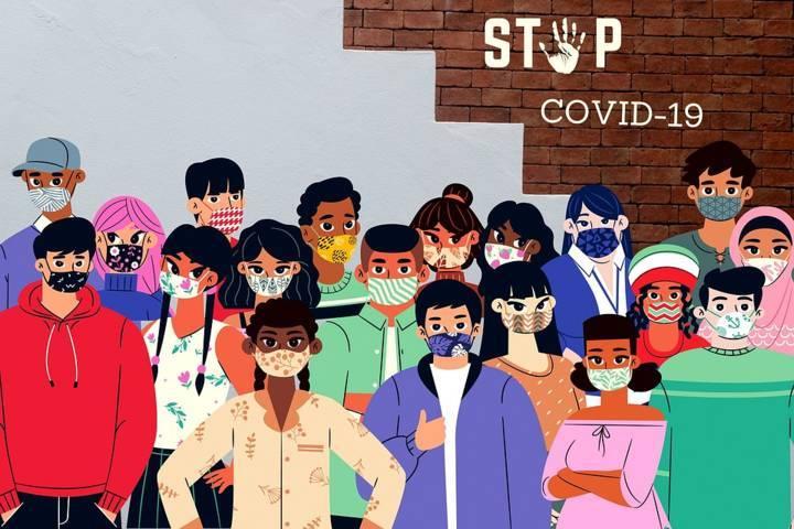Ilustrasi kampanye protokol kesehatan untuk menghentikan penyebaran wabah Covid-19. (Foto: Pixabay) pekerja migran jatim covid-19