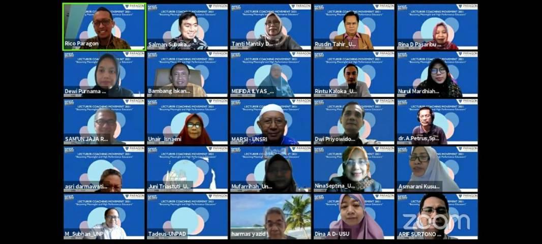Para peserta Lecture Coaching Movement (LCM) Nasional Tahun 2021. (Foto: Feni Yusnia/Tugu Jatim)
