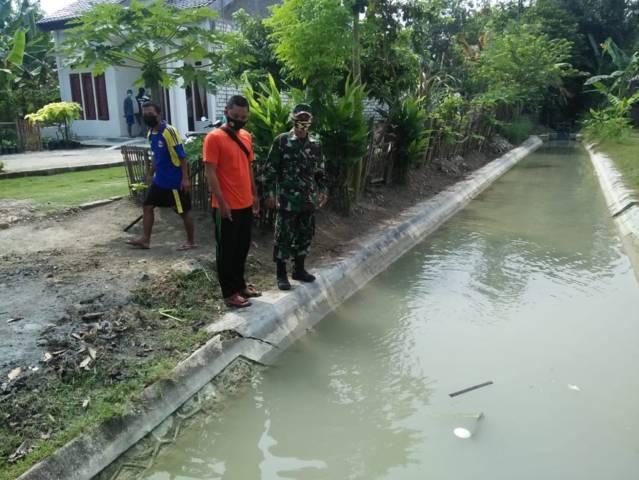 Saluran irigasi di Desa Kapas, Kecamatan Kapas, Kabupaten Bojonegoro.(Foto: BPBD Bojonegoro/Tugu Jatim)
