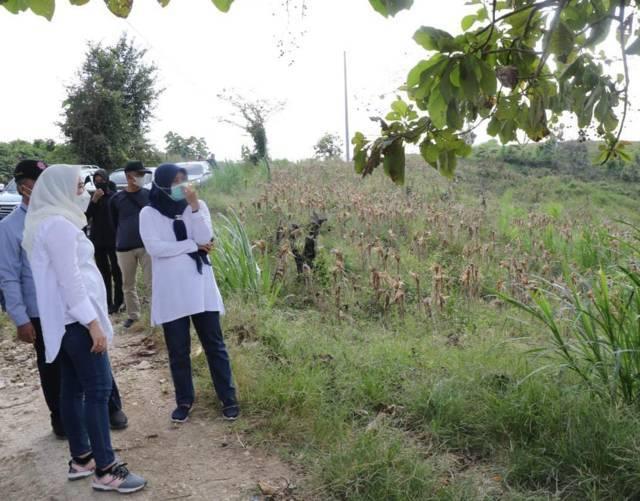 Bupati Bojonegoro melakukan pengecekan di Dusun Buntel Desa Tondomulo, Kecamatan Kedungadem, Kabupaten Bojonegoro untuk persiapan Karya Bakti Sekala Besar (KBSB). (Foto: Kominfo Bojonegoro)