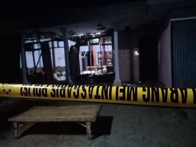 Lokasi meledaknya petasan yang menewaskan 1 warga Kediri. (Foto: Rino Hayyu Setyo/Tugu Jatim)